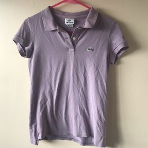 Lacoste lavender polo women's cut
